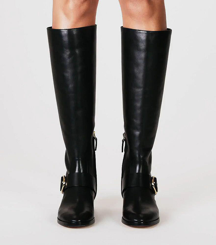 Tory Burch Leather Sofia Riding Boot