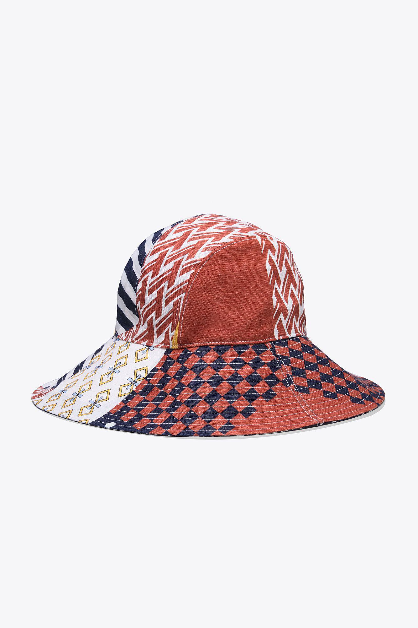 9efa95ec8 Tory Burch Multicolor Floral Patchwork Hat