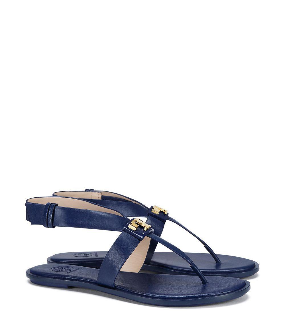 352f4963b Lyst - Tory Burch Gigi Flat Sandal in Blue