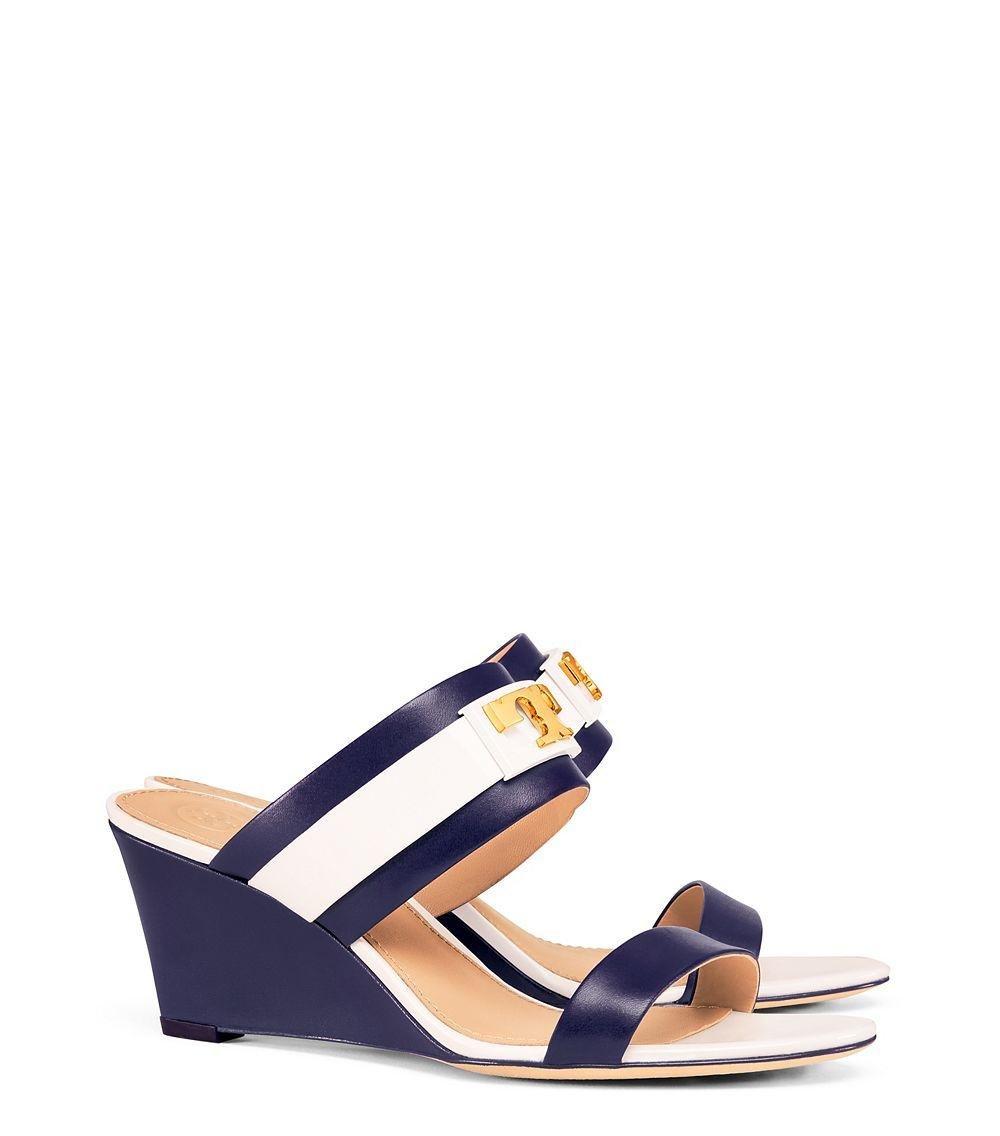 455b98821 Lyst - Tory Burch Gigi Wedge Sandal in Blue