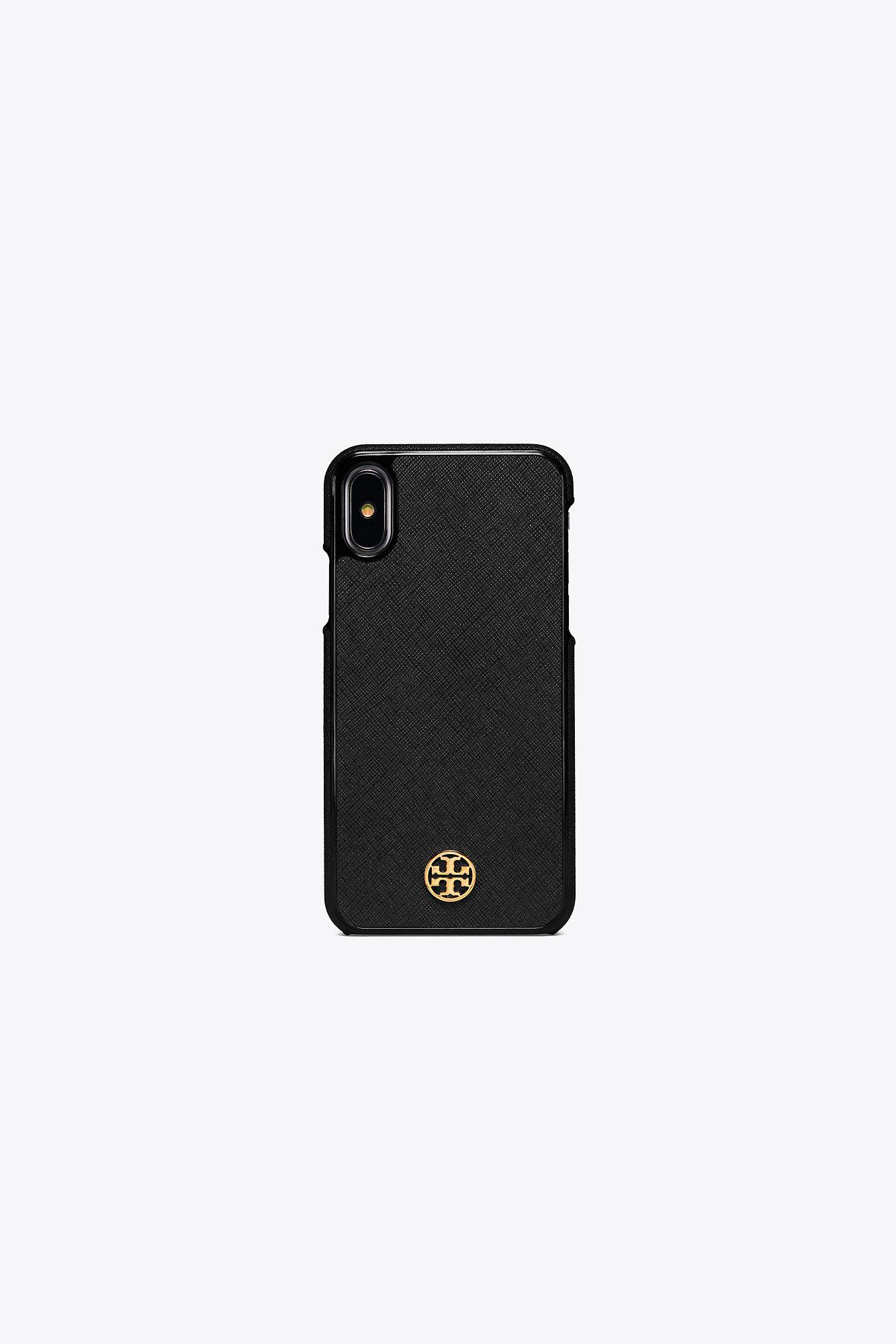 new products 054af 84231 Tory Burch Black Robinson Hardshell Case For Iphone X | 001 | Phone Cases