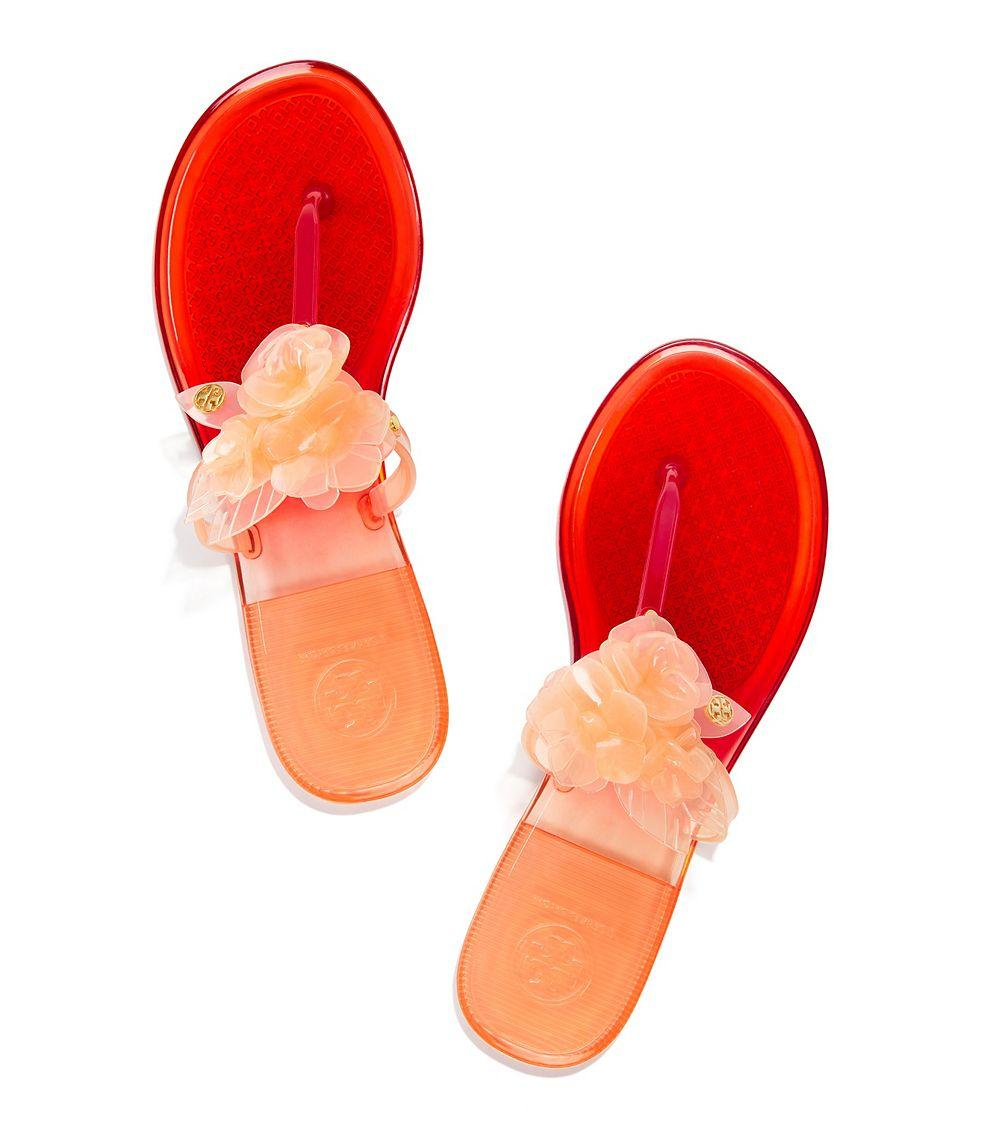 30b934427 Lyst - Tory Burch Blossom Two-tone Jelly Thong Sandal