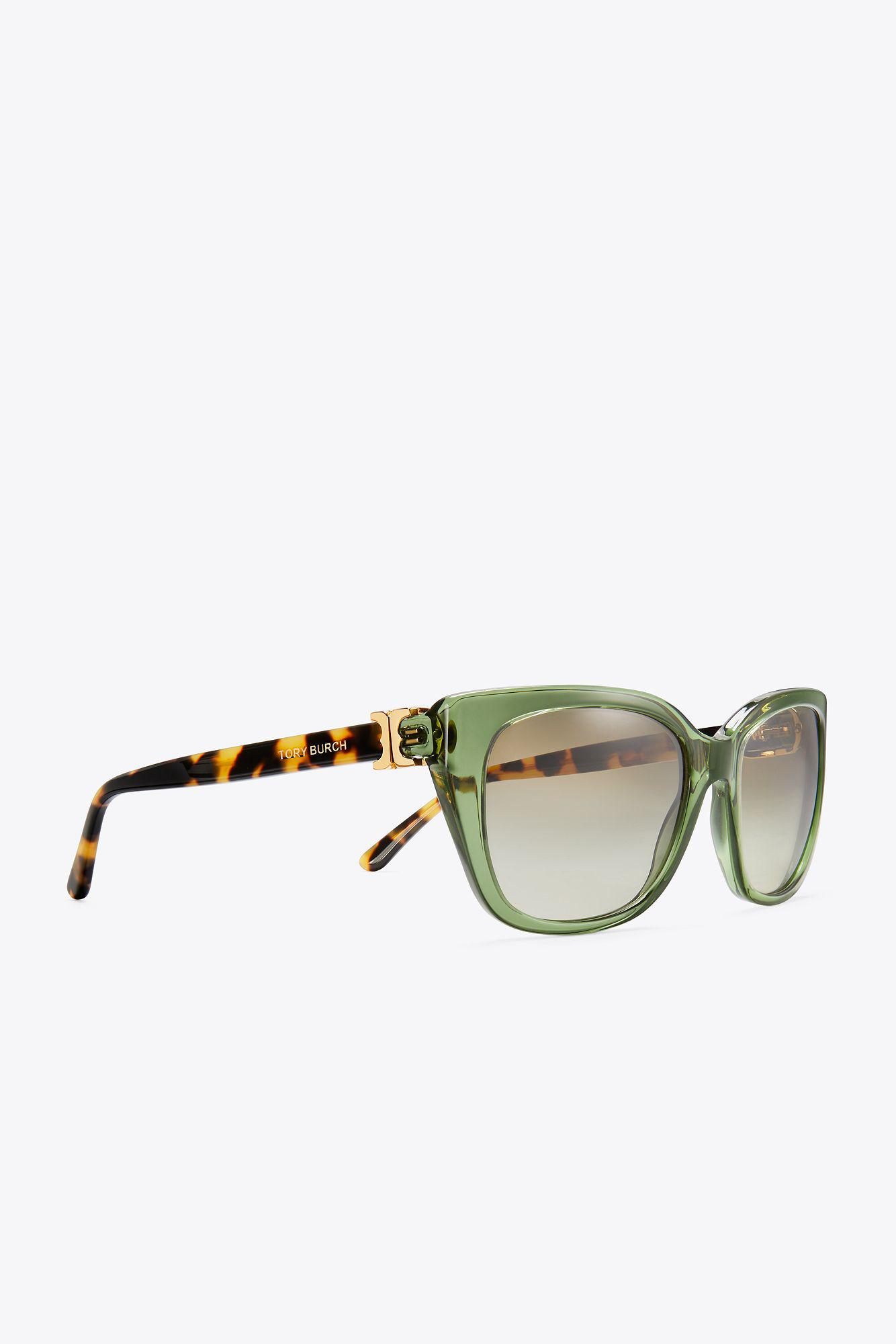 73b170ca6db1 Tory Burch Gemini Link Sunglasses in Green - Lyst