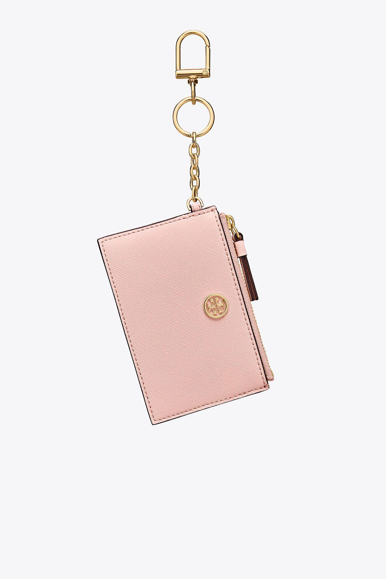 online retailer 20936 b45f5 Tory Burch Pink Robinson Card Case
