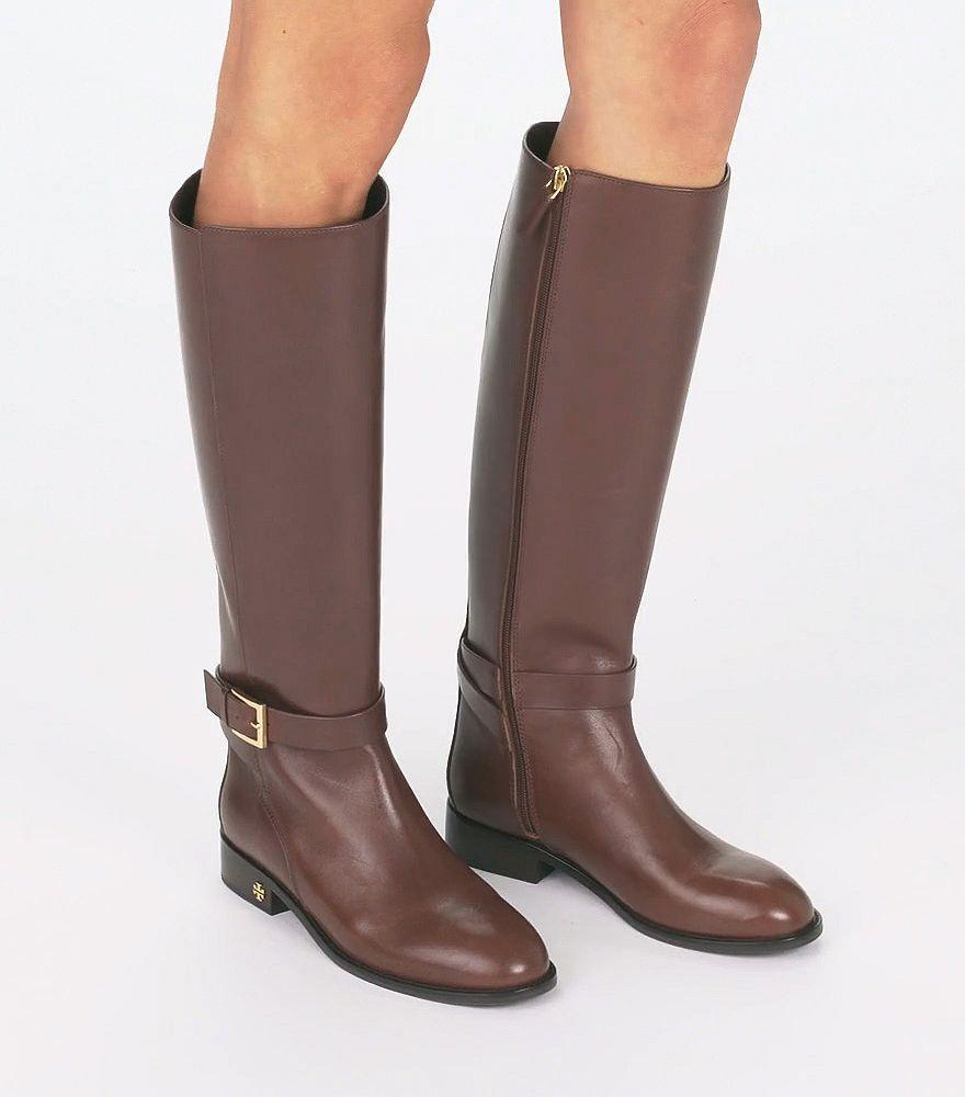 Tory Burch Leather Brooke Riding Boots
