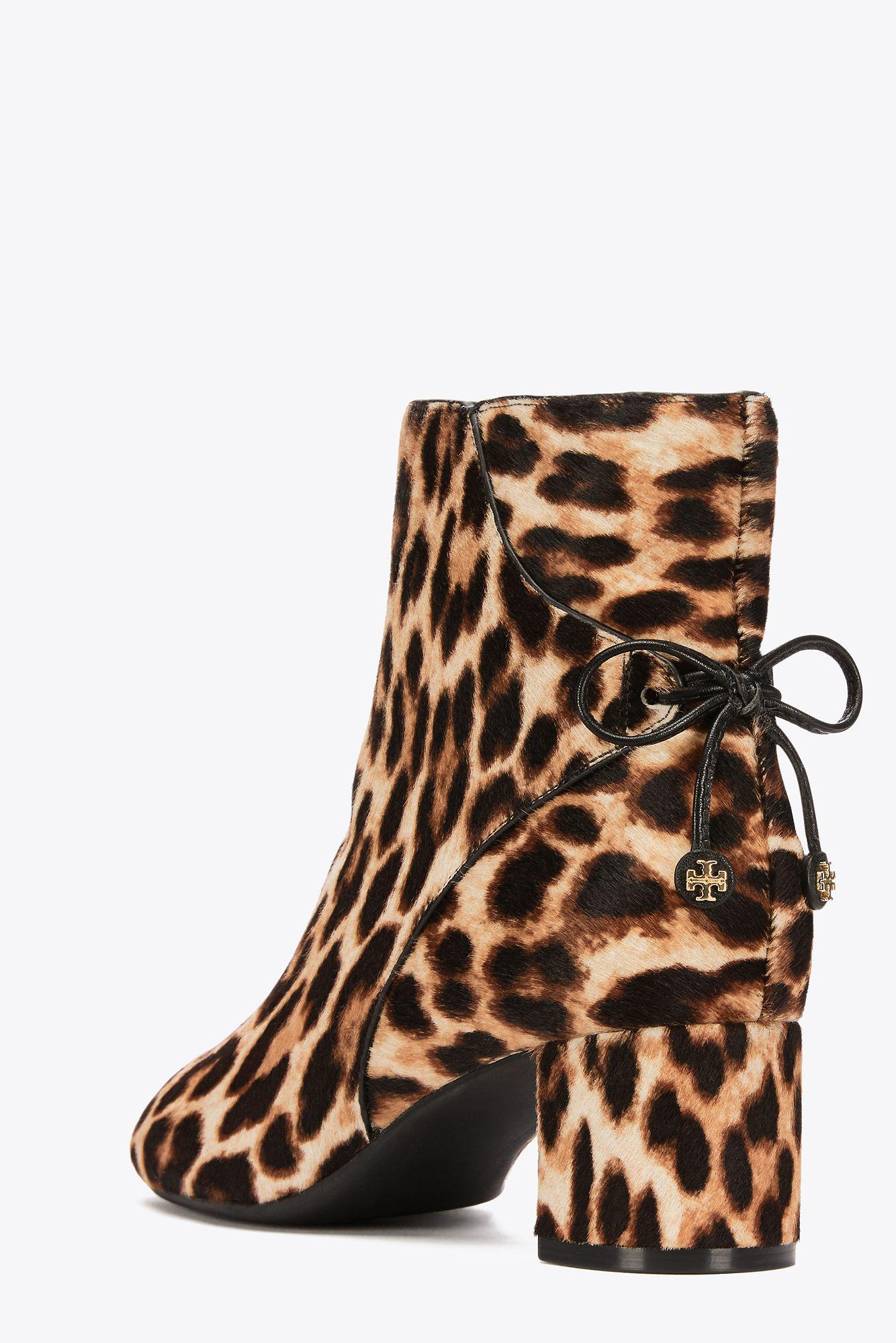 Tory Burch Bow-detailed Leopard-print