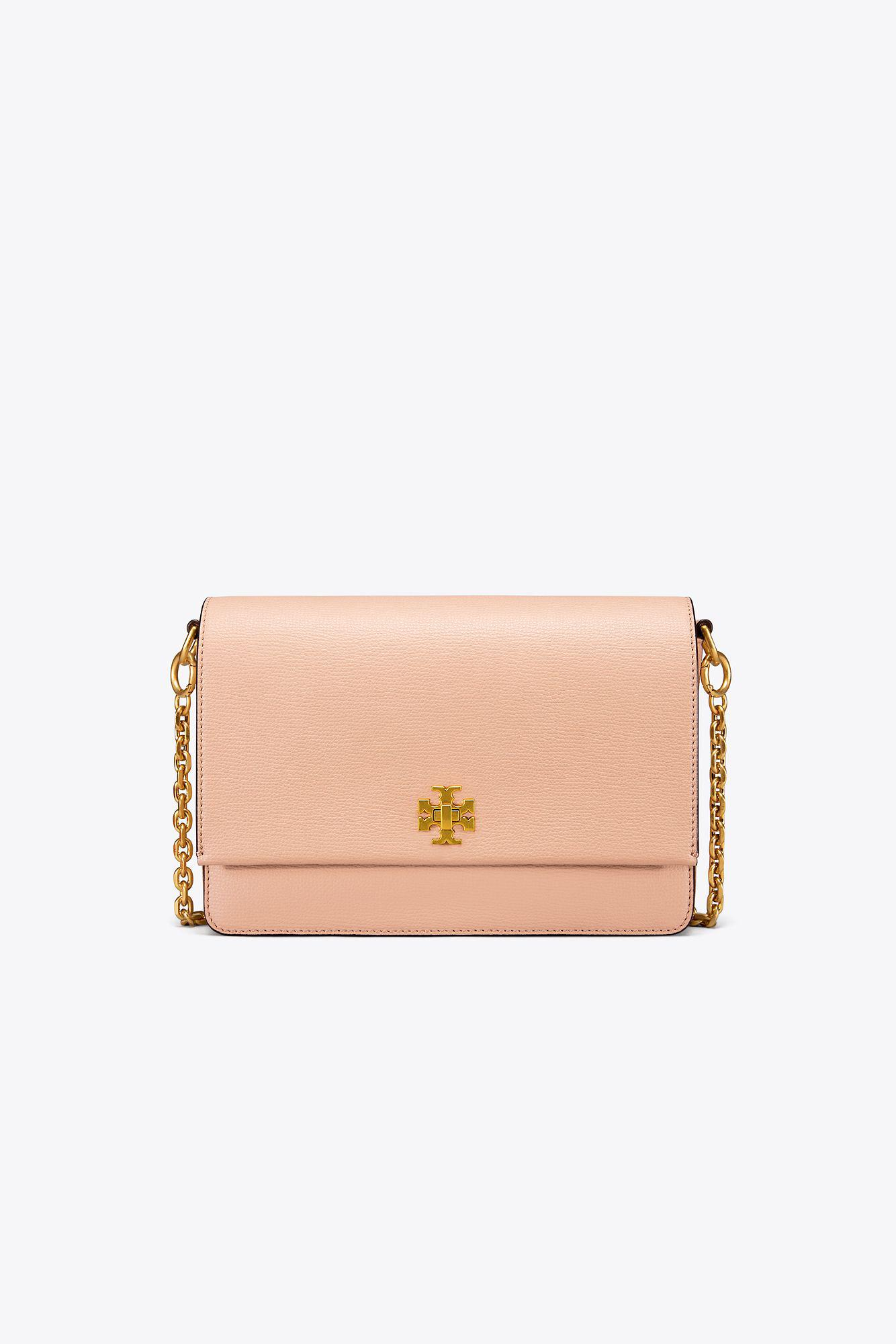 7dc083ce7cc5c Tory Burch Kira Double-strap Shoulder Bag in Natural - Lyst