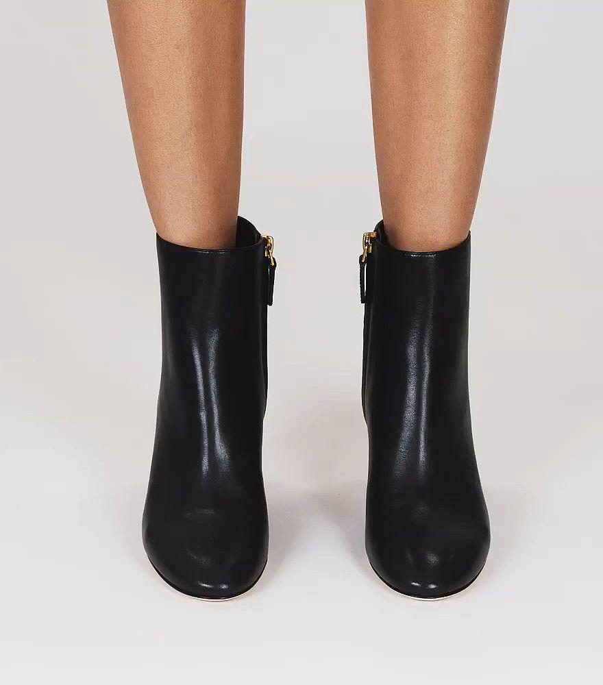 9cb1a1a290a9d Lyst - Tory Burch Brooke Embossed Bootie