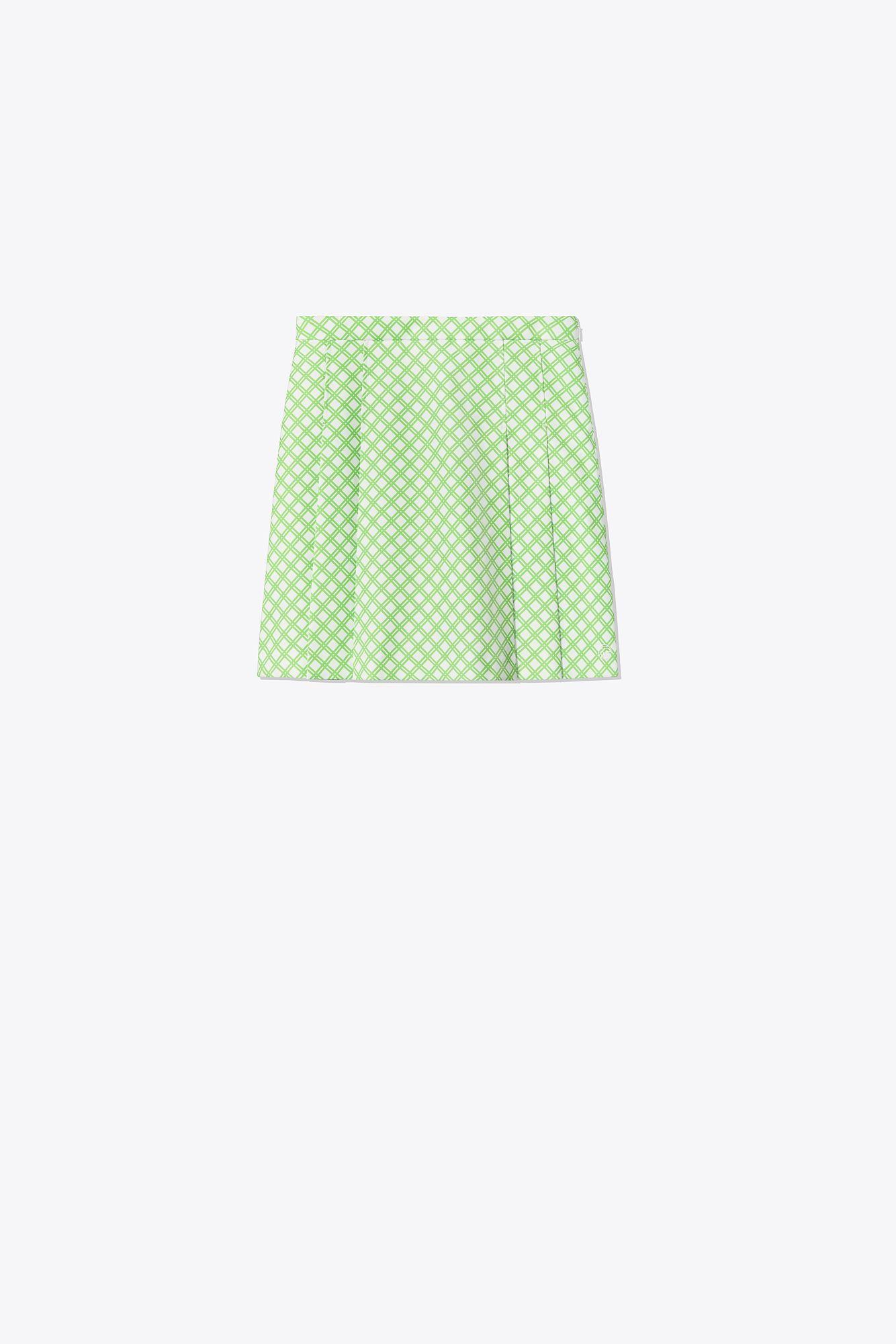 d9e85a6456 Tory Sport. Women's Green Printed Tech Twill Pleated Golf Skirt ...