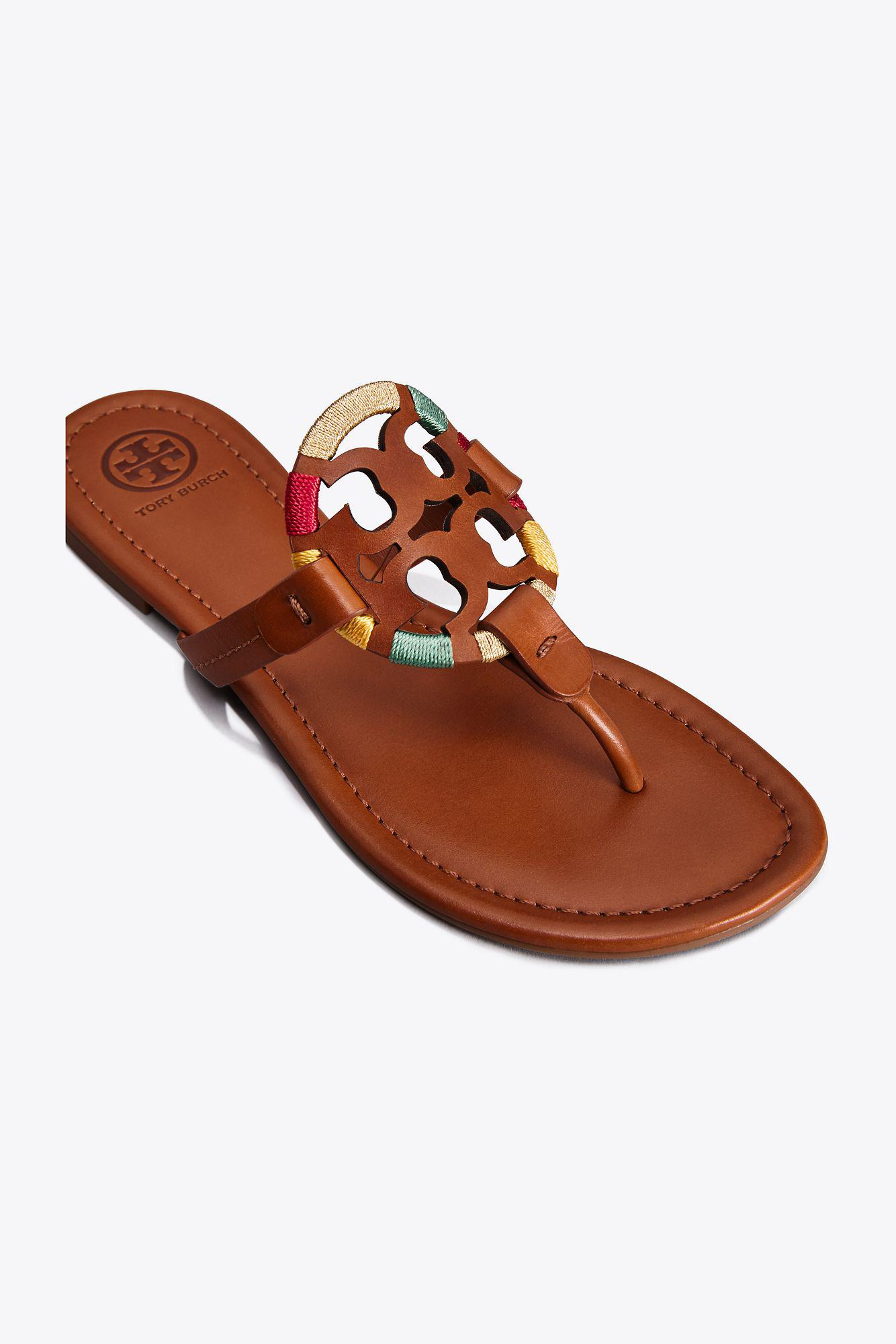 6c61b6ad14b5e Lyst - Tory Burch Miller Embroidered Sandal