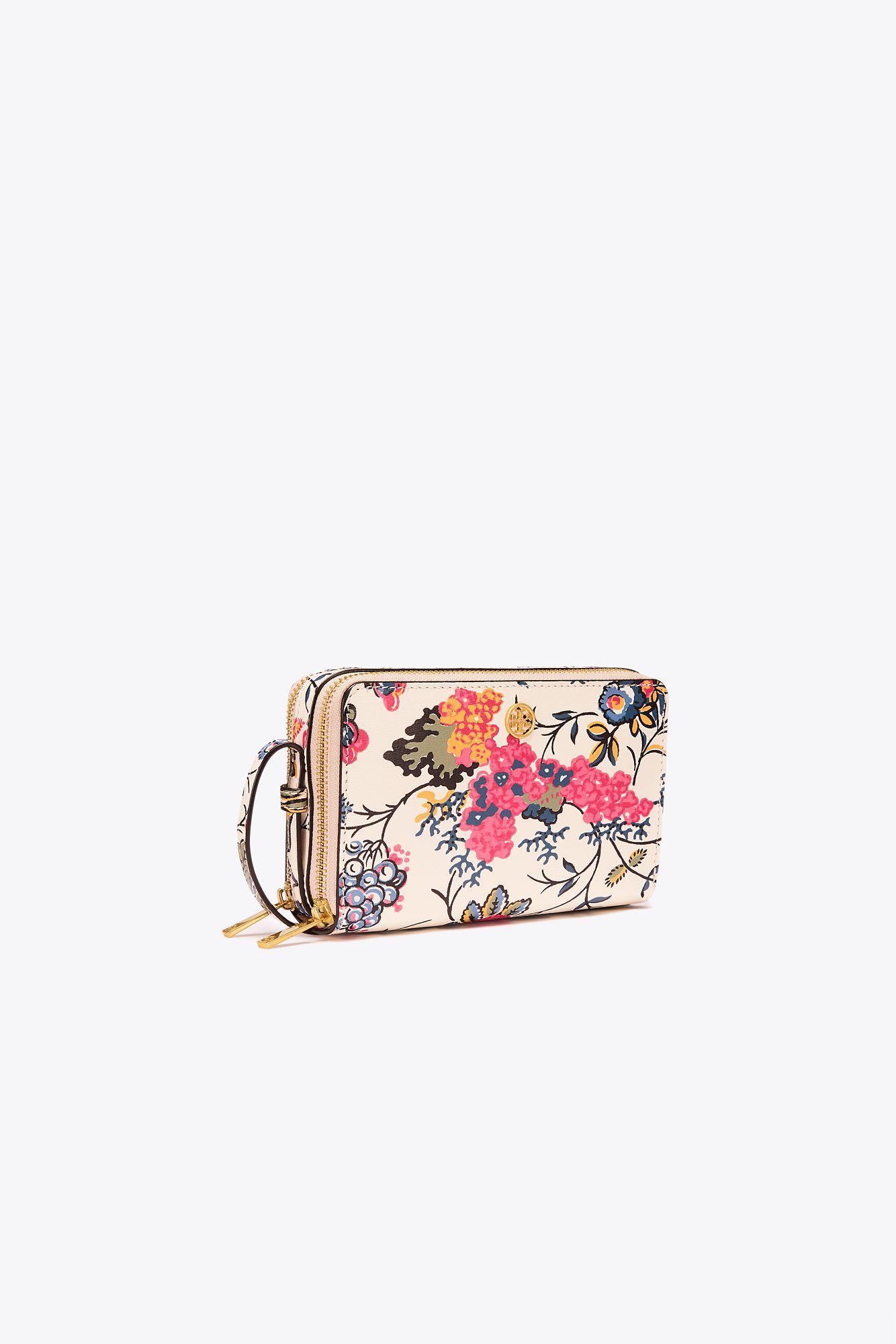 27b890909836 Lyst - Tory Burch Parker Floral Double-zip Mini Bag