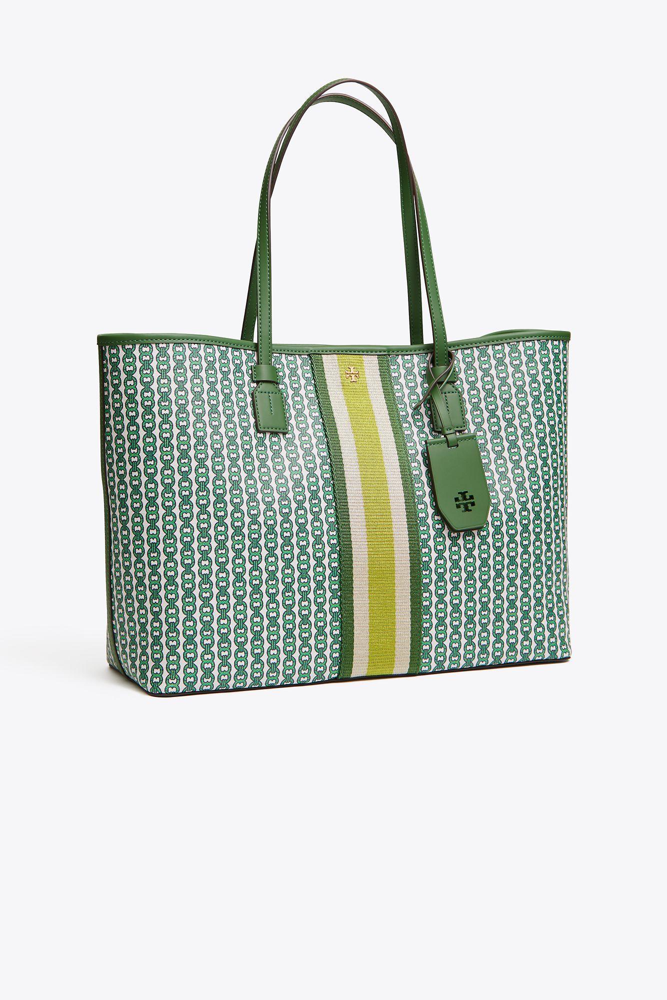 2c885eef1aec Tory Burch Jemini Tote Bag in Green - Save 18% - Lyst