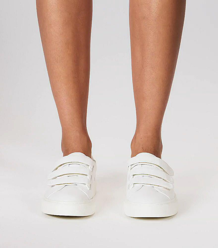 cebb4f7a0e96b8 Tory Burch Triple-strap Sneakers in White - Lyst