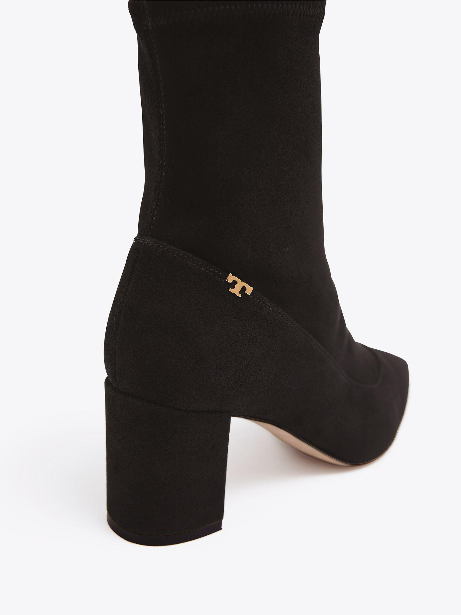 56a6c29802ad Tory Burch Penelope Stretch Bootie in Black - Save 19% - Lyst