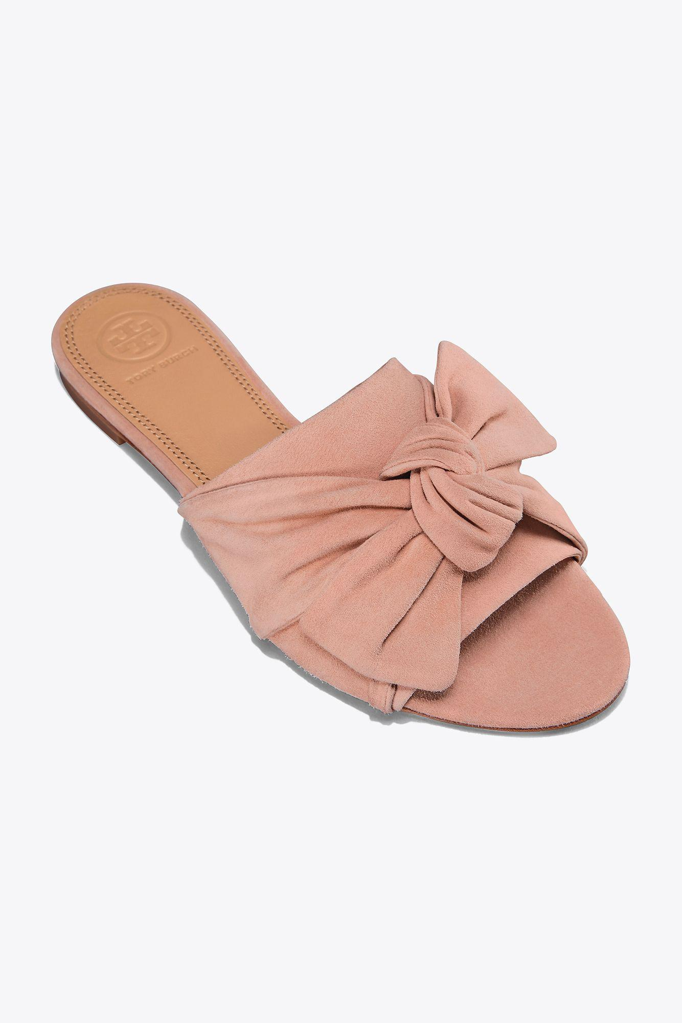 Tory Burch Leather Annabelle Bow Slide
