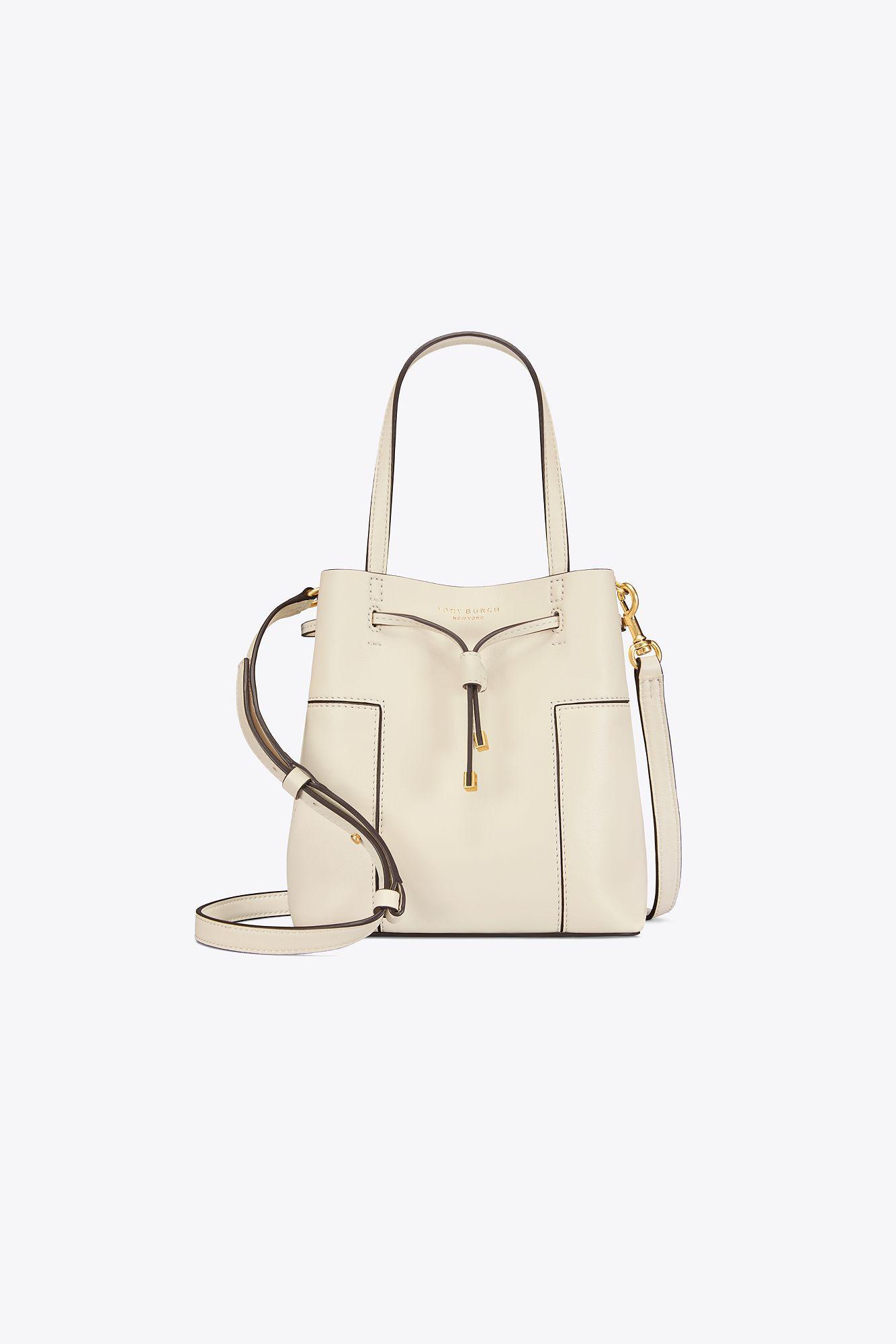 65aee03b2f7 Tory Burch Block-t Small Bucket Bag in Natural - Lyst