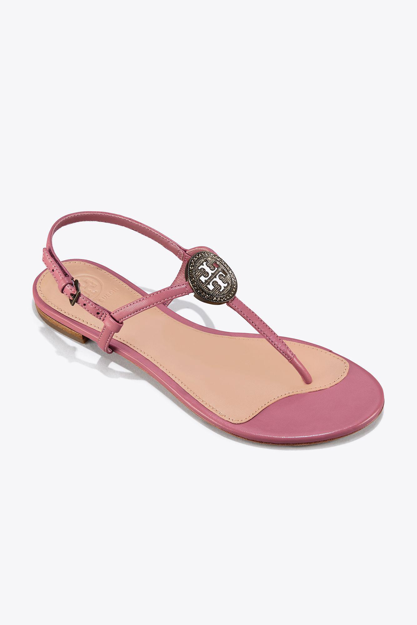 ea9f08b37e5 Lyst - Tory Burch Liana Flat Sandal in Pink