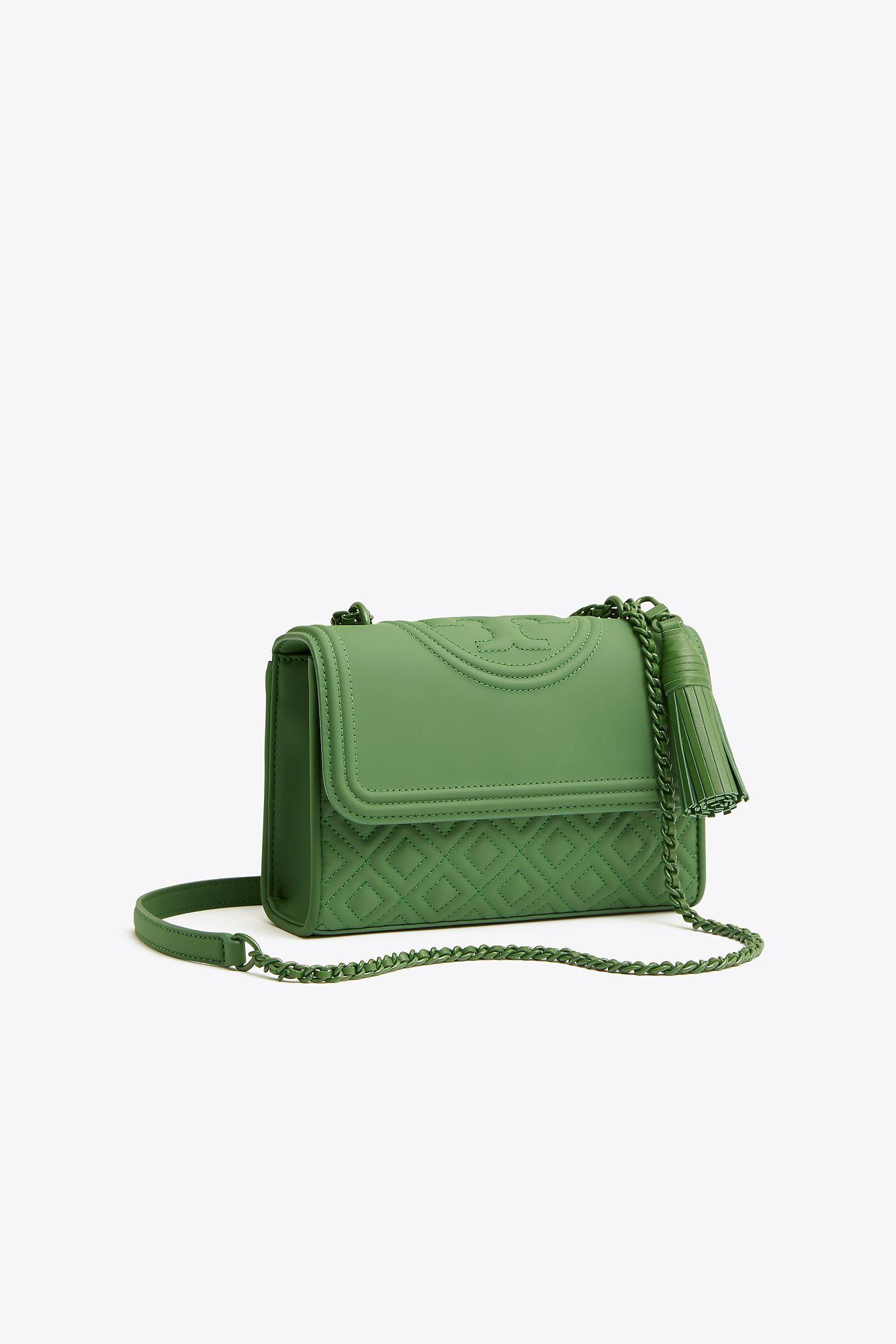76503be442b7 Tory Burch. Women s Green Fleming Matte Small Convertible Shoulder Bag