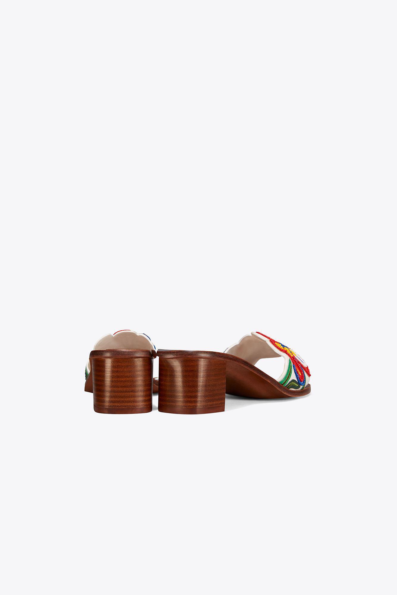 569a3af01d6e1 Lyst - Tory Burch Bianca Mid-heel Slide
