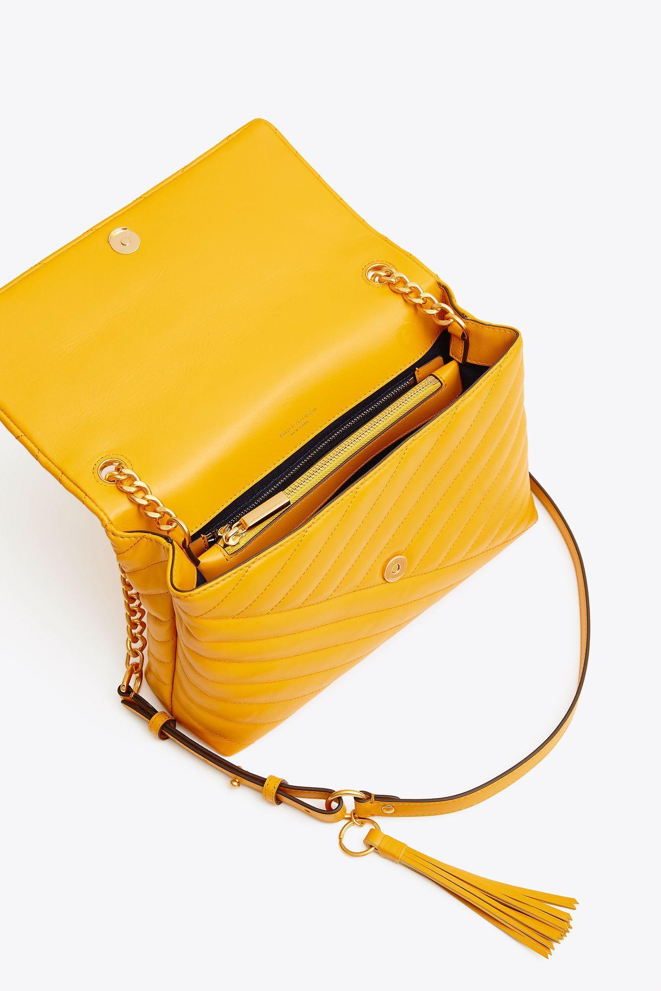 dbed74a0be30 Lyst - Tory Burch Kira Chevron Flap Shoulder Bag in Yellow