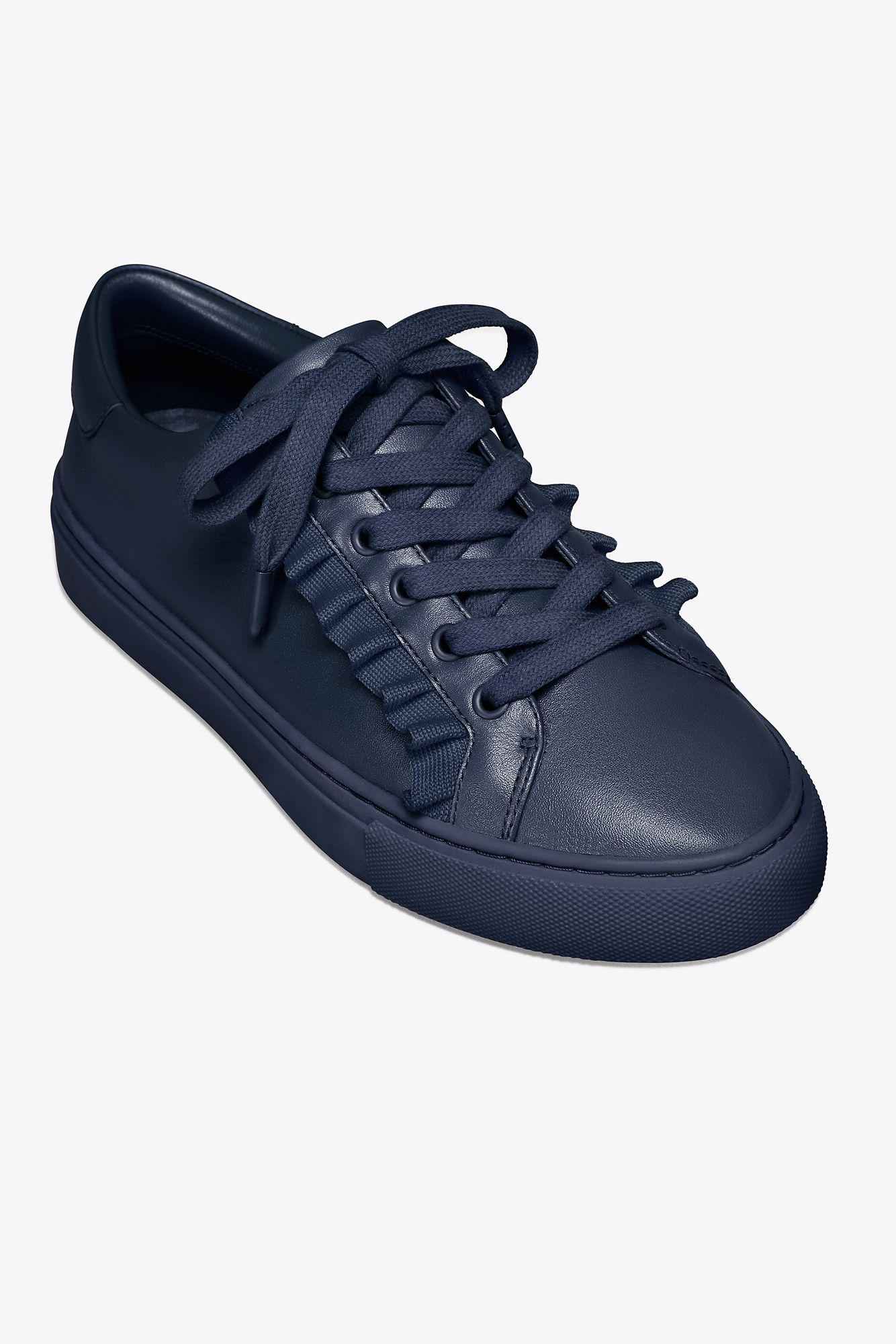 Leather Tory Burch Ruffle Sneaker