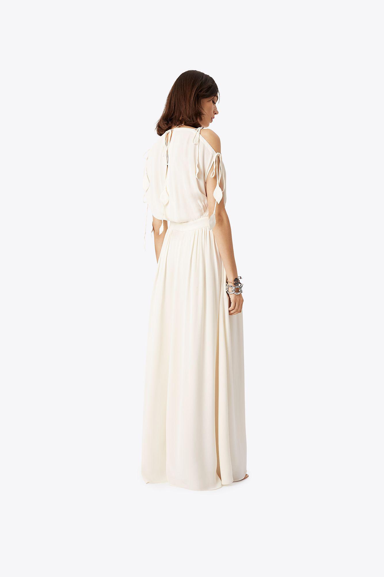 5c41e61e52 Tory Burch - White Evalene Tie-shoulder Dress - Lyst. View fullscreen
