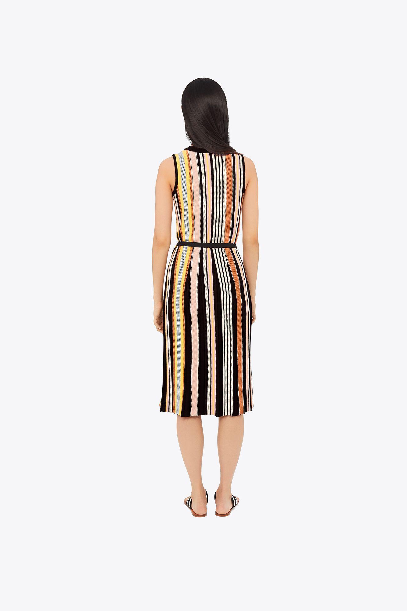 b3fd09b56fc Tory Burch - Black Striped Sweater Dress - Lyst. View fullscreen