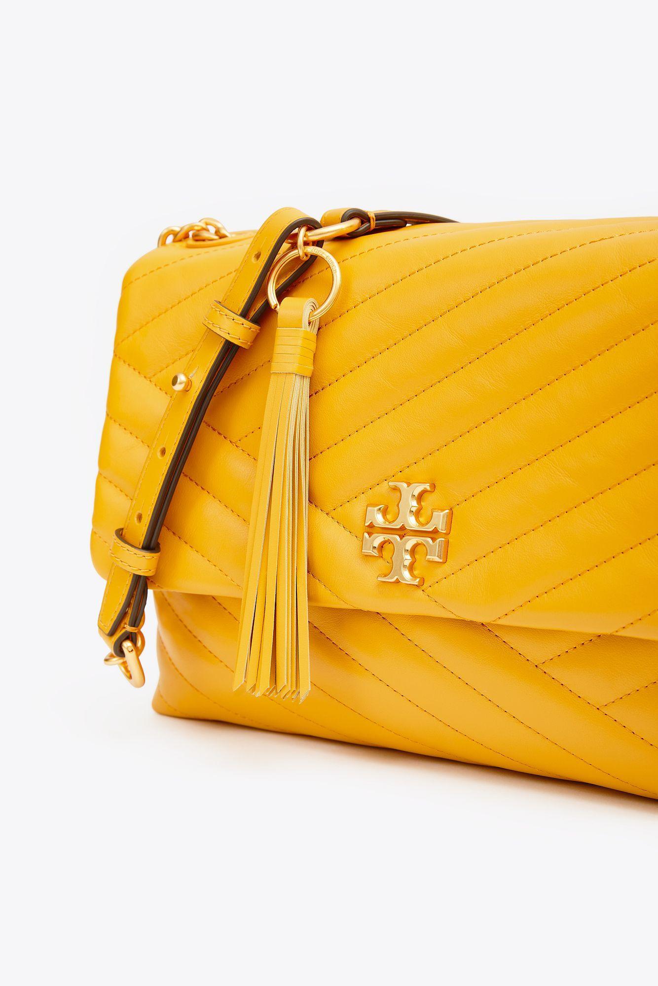 0c0ad8389dbf Tory Burch Kira Chevron Flap Shoulder Bag in Yellow - Lyst