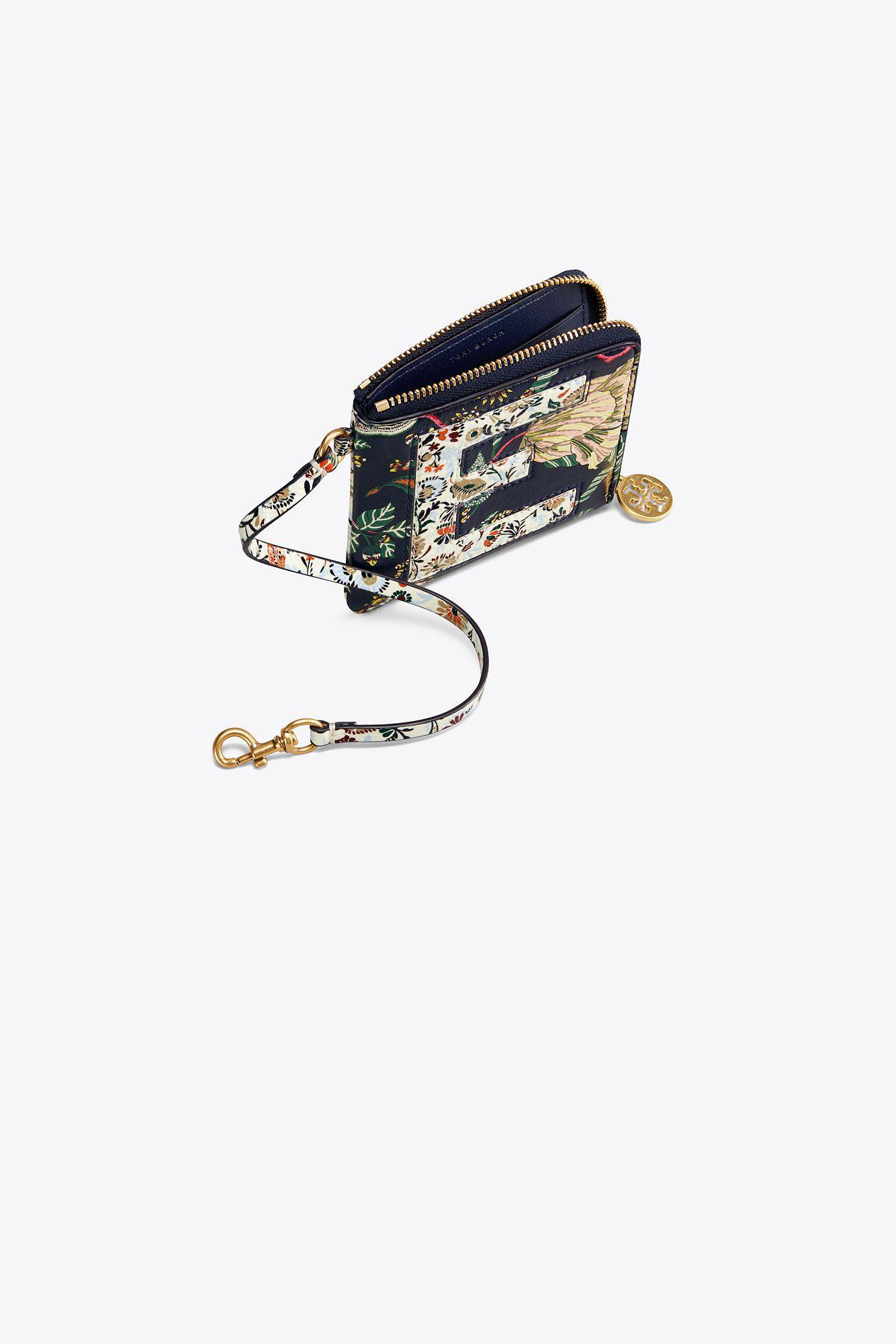 quality design 2e4c0 f33bc Tory Burch Monogram Card Case Key Ring - Lyst