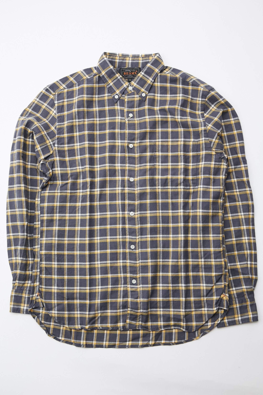 Blue Business Shirt Throwback Retro Boss Houndstooth Spot Tiny Gingham Checkered