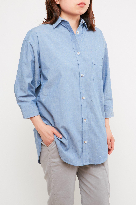 e0a019fac0f Lyst - Mollusk Mollusk Maggie Shirt Indigo Cosmos in Blue