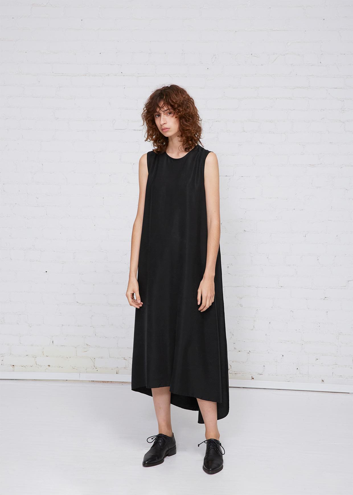 010358421bb Lyst - Kaarem Turn Sleeveless Overlap Maxi Dress in Black