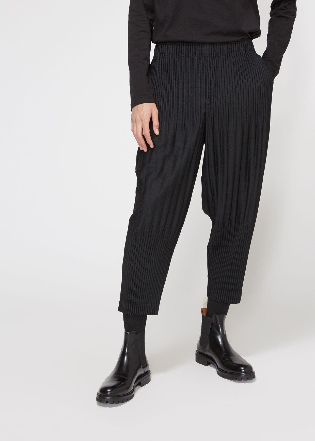 b3a9ef6bf Lyst - Homme Plissé Issey Miyake Basics Pleated Tapered Trouser in ...