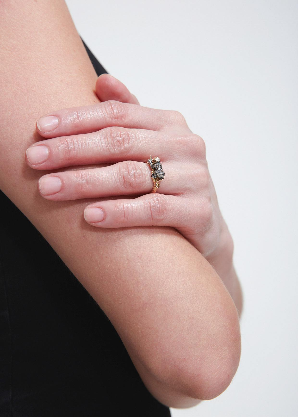 Lyst - Bibi Van Der Velden Monkey Stackable Ring in Metallic