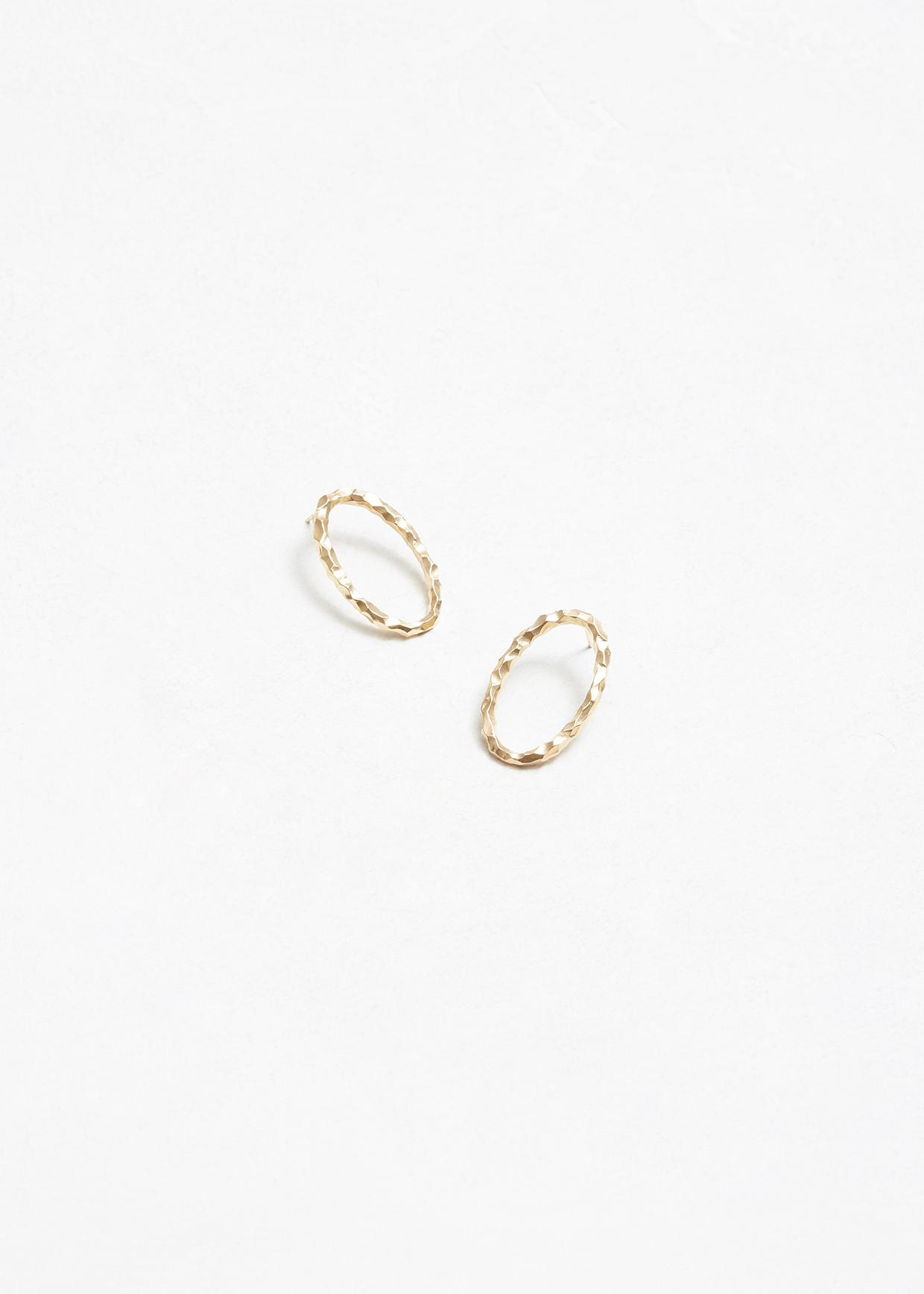 Gold Large Ellipse Earrings All_Blues YkHn1oUtf