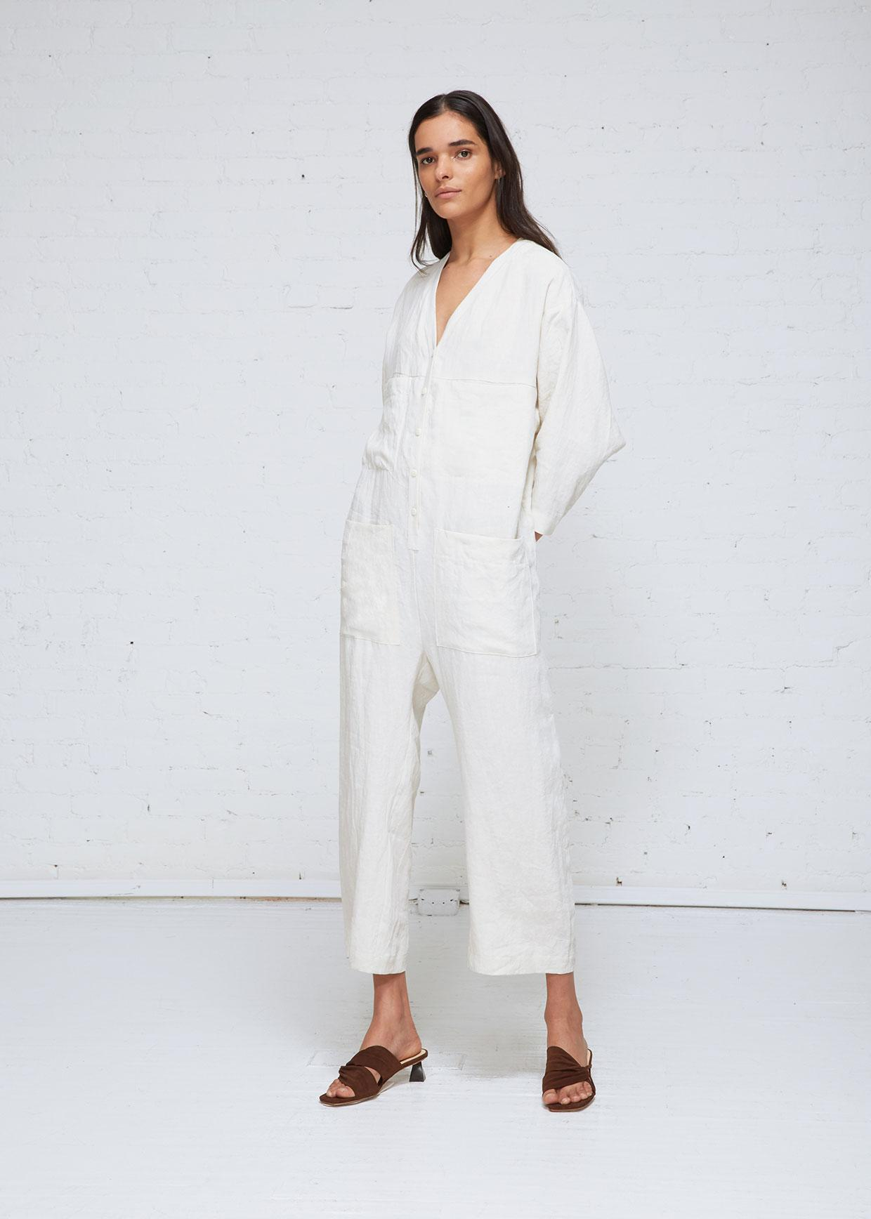 8c951484502 Ilana Kohn Tuck Coverall in White - Lyst
