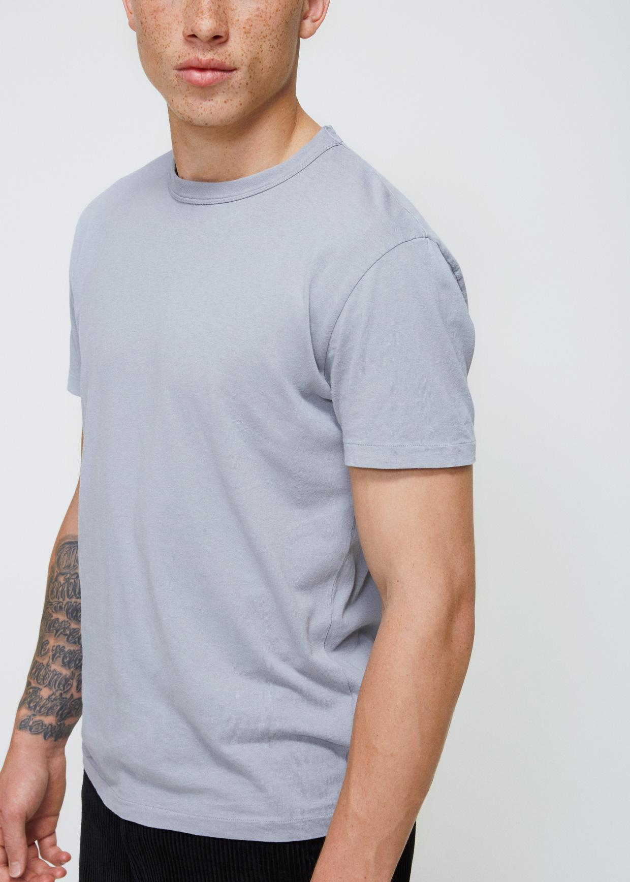 OUR LEGACY Cotton-jersey T-shirt - Light blue OrZeVG2GmF