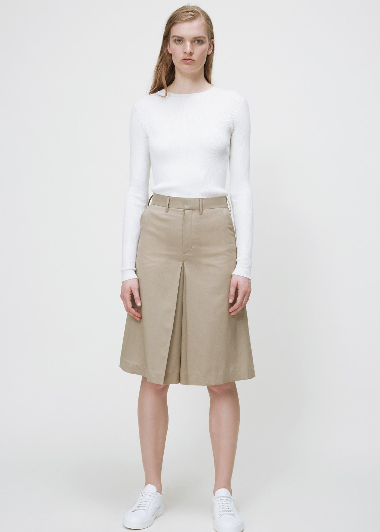 Hyke Beige Culotte Skirt In Natural Lyst