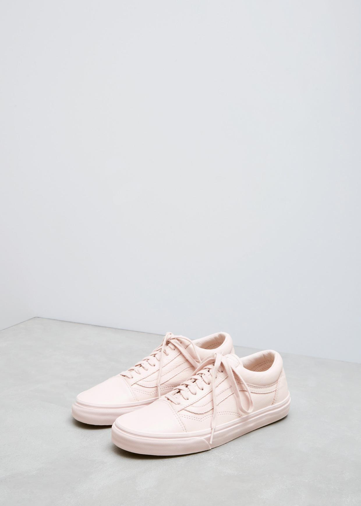 Lyst - Vans Sepia Rose Mono Leather Ua Old Skool in Pink 3e4ce5d95