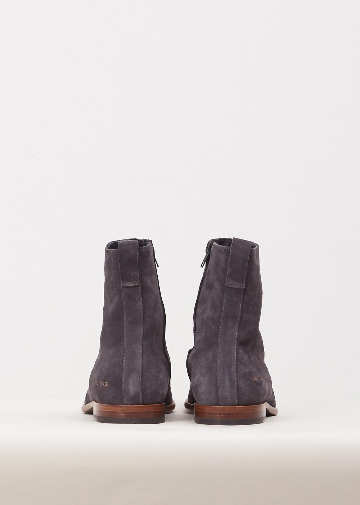 Robert Geller Charcoal Common Projects Chelsea Boots In