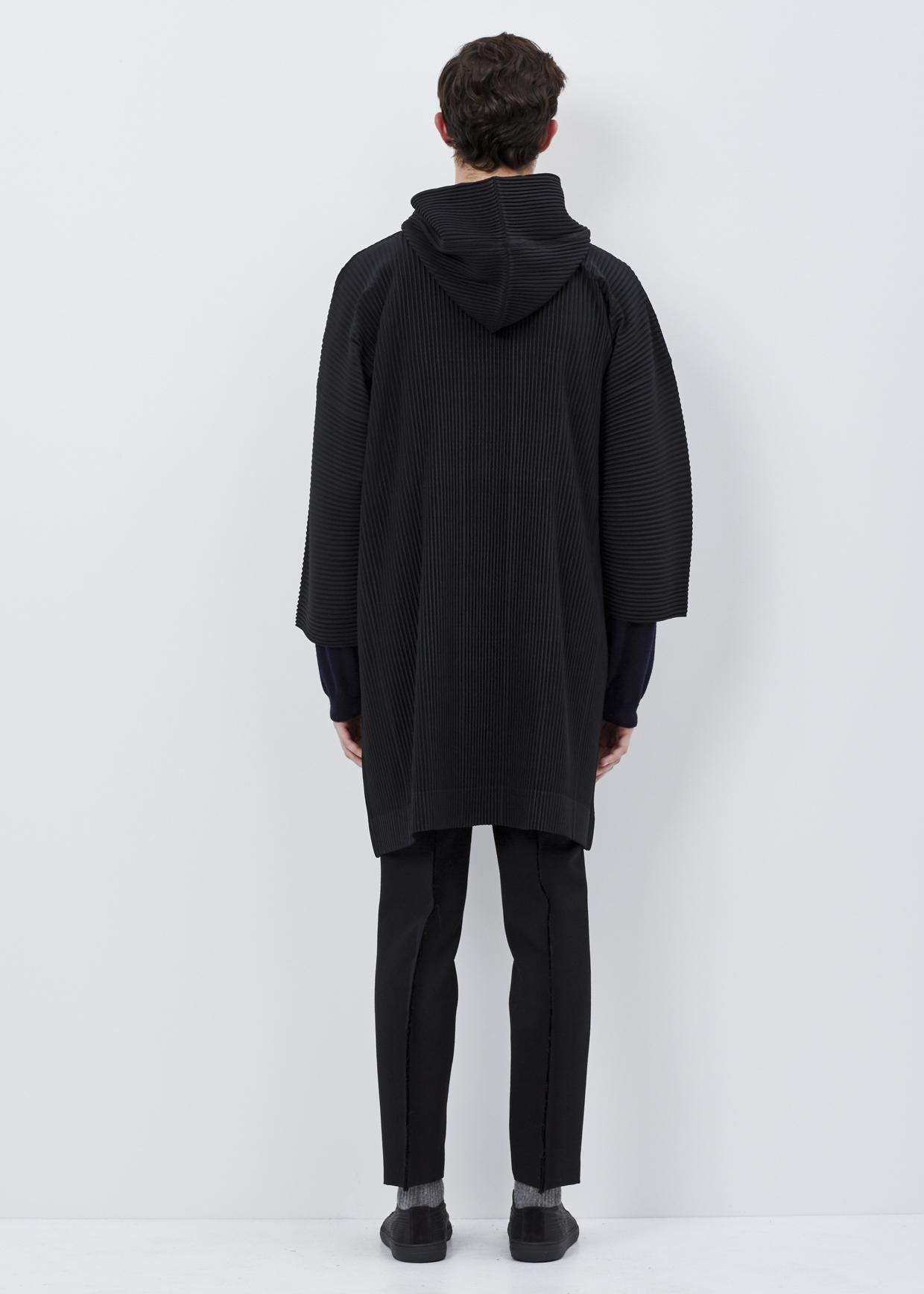 lyst homme pliss issey miyake black shawl collar hoodie in black for men. Black Bedroom Furniture Sets. Home Design Ideas