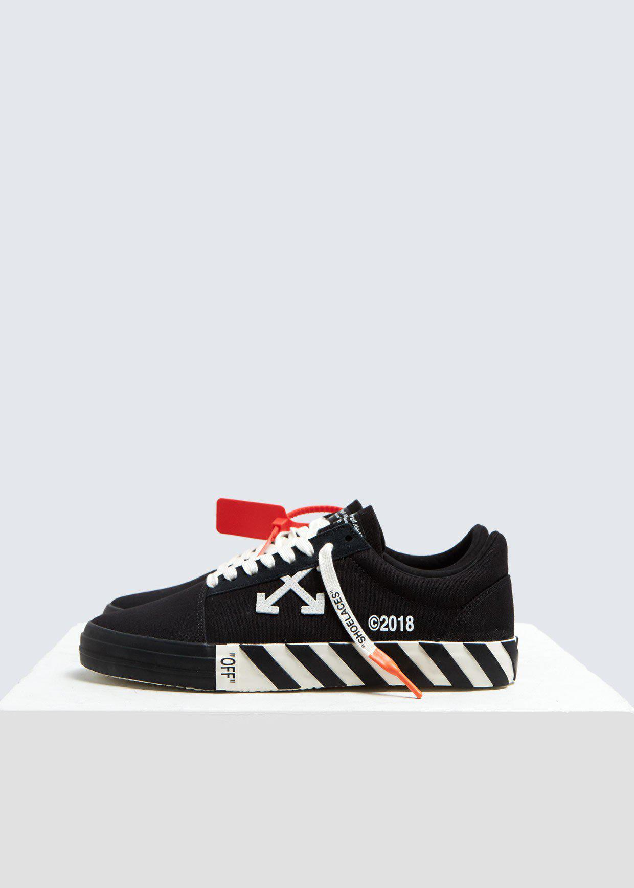 Off White C O Virgil Abloh Vulcanized Striped Low Top