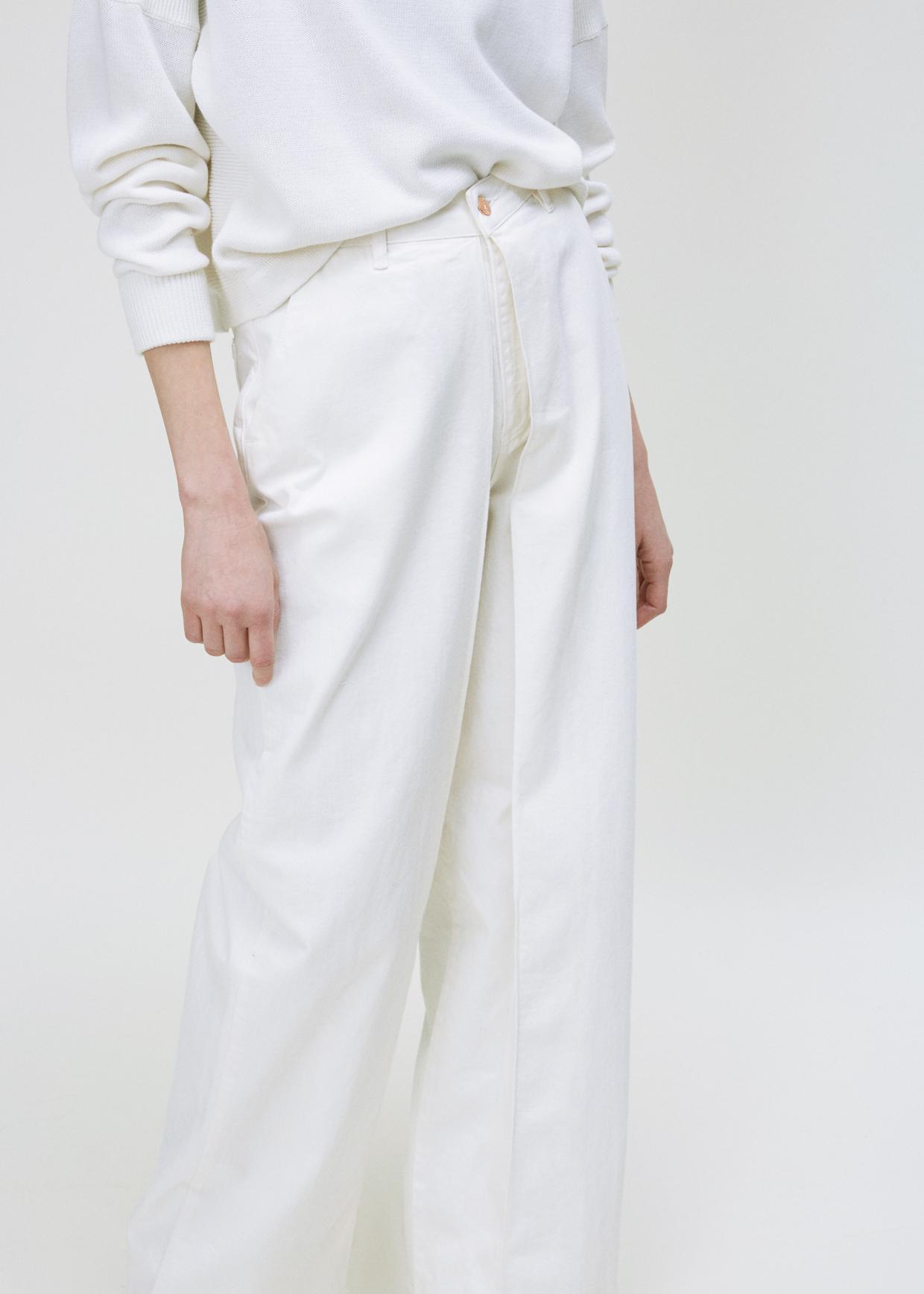 Lyst aalto white front pleats jean in white for Av diagonal 434