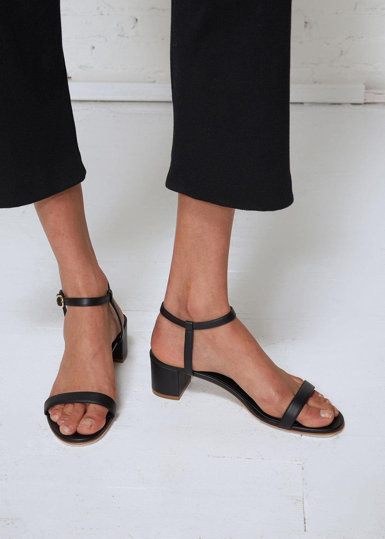 80f6cc145537 Mansur Gavriel Ankle Strap Sandal in Black - Lyst