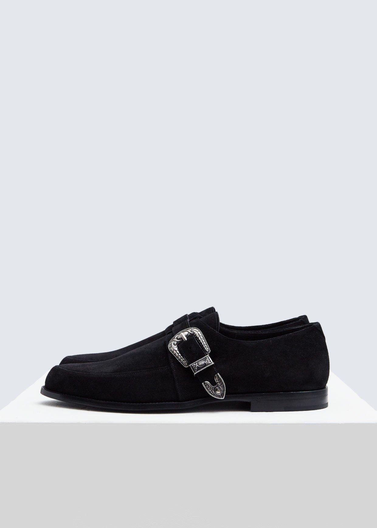 f2443a90468 Lyst - Saint Laurent Charles Monkstrap Shoe in Black for Men