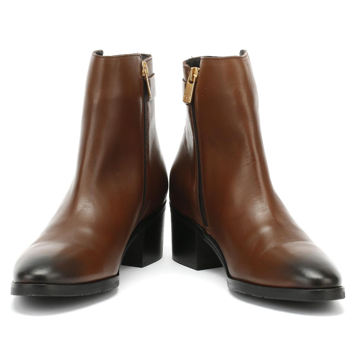Tommy Hilfiger Leather Womens Coffee