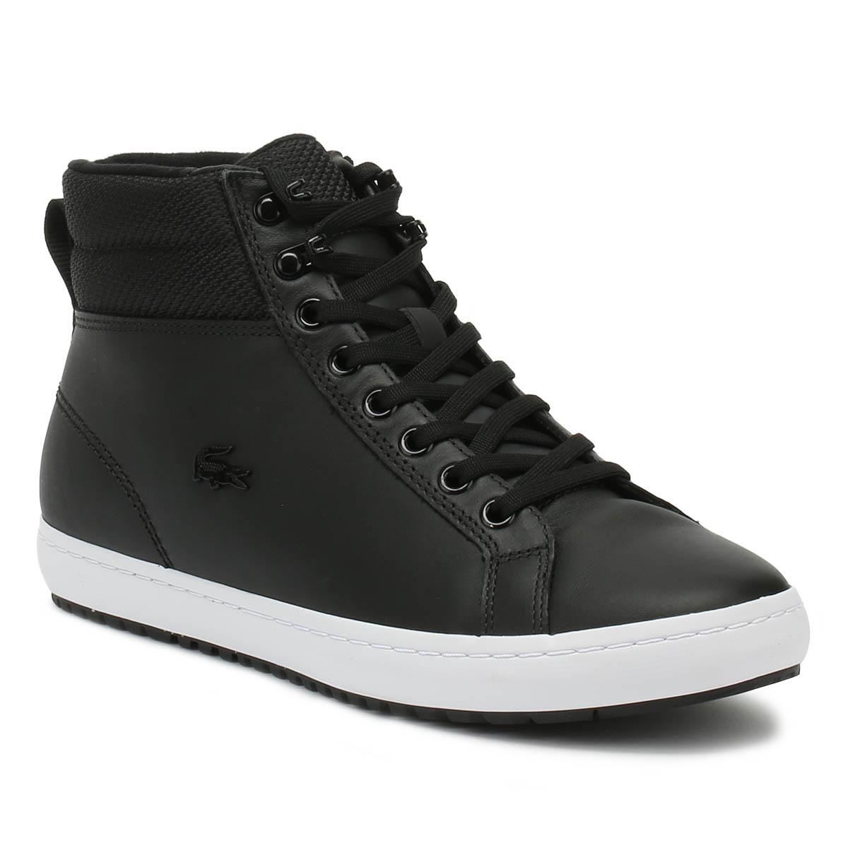 a364be0b375048 Lyst - Lacoste Straightset Insulac 318 1 Womens Black Trainers in Black
