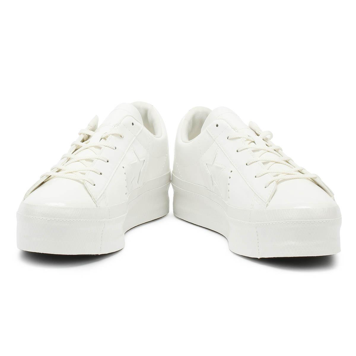 converse one star platform ox vintage white sneakers