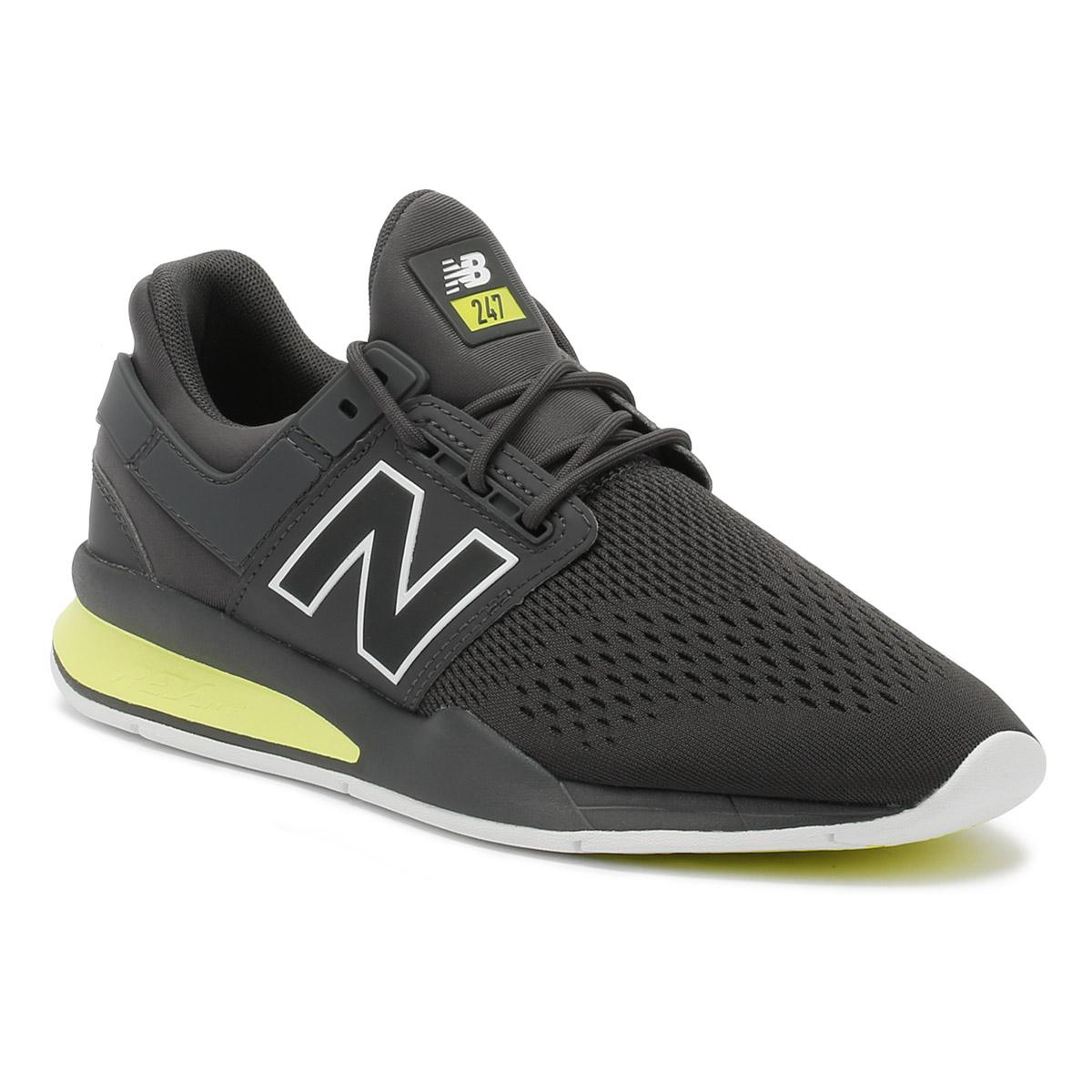 Mens Magnet Grey / Solar Yellow 247 Sport Trainers