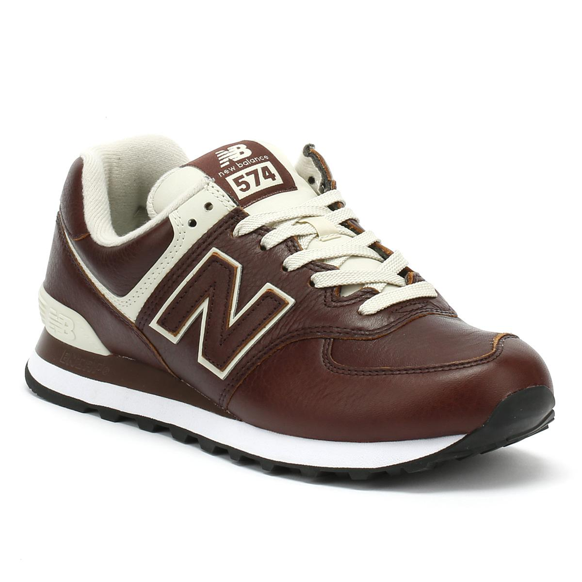 the best attitude 178fe 8edc1 New Balance Multicolor Mens Cabernet Red / White 574 Trainers for men
